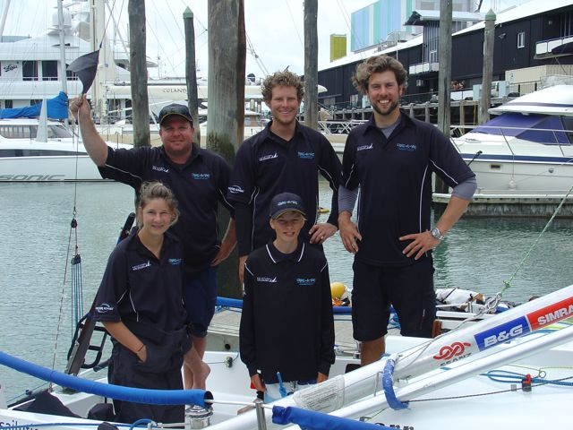 CRAC-A-JAC's Crew in the Auckland Anniversary Regatta 2010