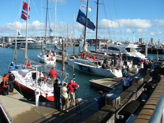 Some of the participating boats in the Viaduct Basin, including Starlight Express