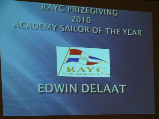 RAYC Academy Sailor of the Year annoucement