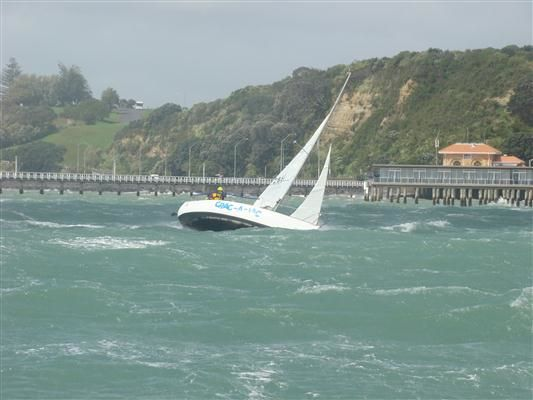 Crac-A-Jac heading for the finish line in ferocious conditions in race 3. Photo from SSANZ website