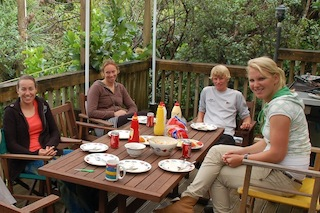 Photo: Marcelien Bos-de Koning, Annemieke Bes, Edwin Delaat and Renee Groeneveld enjoyed a New Zealand style barbecue lunch
