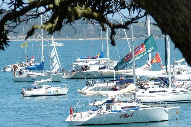 Crac-A-Jac tied up to Sea Harmony in Russell